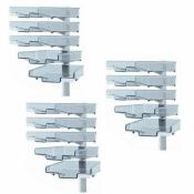 Schwenkflügler 3er-Set, lichtgrau, mit 5 transparenten Schalen
