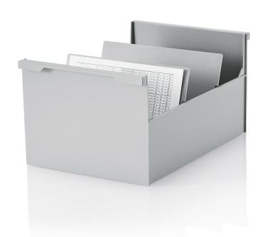 2 Stück Karteikasten DIN A5 quer, grau