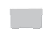 Trennwände für Karteikasten A6 quer, grau, 2 Stück