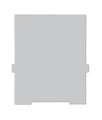 Trennwände für Karteikasten A4 hoch, grau, 2 Stück