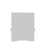 Trennwände für Karteikasten A6 hoch, grau, 2 Stück