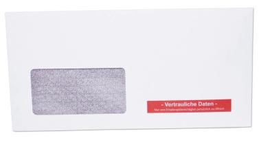 1.000 Kuvertierhüllen - ASK C6/5 - 114x229 mm - Kuvert mit Fenster - Zahlenmeer - vertrauliche Daten