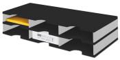 Ablagestystem styrodoc trio Grundeinheit Standard 6 Fächer schwarz grau