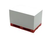 Paletten Notizquader, Notizzettel auf Minipalette