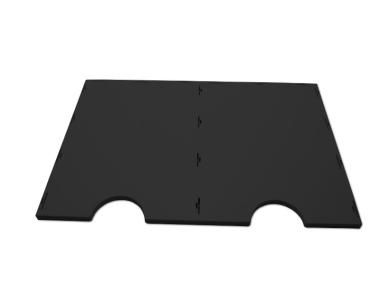 Boden / Deckel zum Bausatz für styrodoc duo oder duo JUMBO Erweiterung schwarz