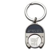 2 Stück Schlüsselanhänger aus Metall mit...
