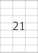 HERMA 4451 Etiketten Premium A4, weiß 70x42 mm Papier matt