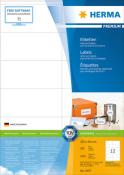 HERMA 4457 Etiketten Premium A4, weiß 105x48 mm Papier matt
