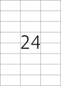 HERMA 4464 Etiketten Premium A4, weiß 70x37 mm Papier matt 2400 St.