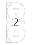 HERMA 5079 CD-Etiketten A4 weiß Ø 116 mm Papier matt blickdicht