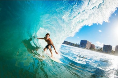 Schreibunterlage Mini 500 x 340 mm Poster Pad - Surfer