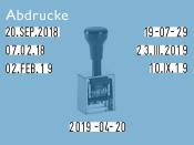 Datumstempel Modell D28 (Zg 4)