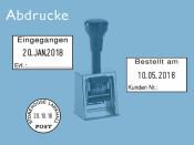 Datumstempel Modell D28b mit Textplatte (Zg 4)