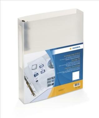 HERMA 7580 CD/DVD/SD Ordner A4 transparent