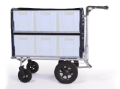 Kommissionierwagen Aktenwagen Trolley BT6 transparent mit lenkbaren Vorderrädern