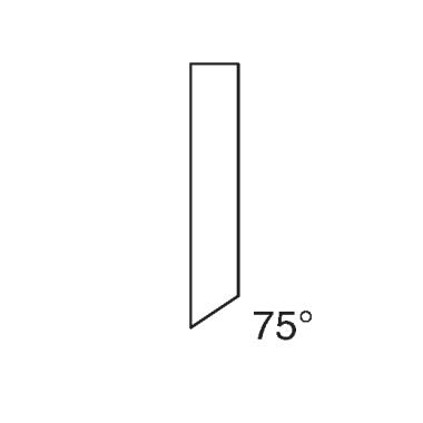 Werkstoffmesser - Schnittschiene für IDEAL 1080 (75 Grad)