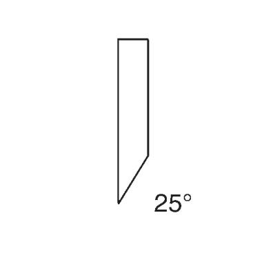 Papiermesser - Schnittschiene für IDEAL 1080 (25 Grad)