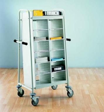Kommissionierwagen Akten Transportwagen 12 Fächer Postsortierung